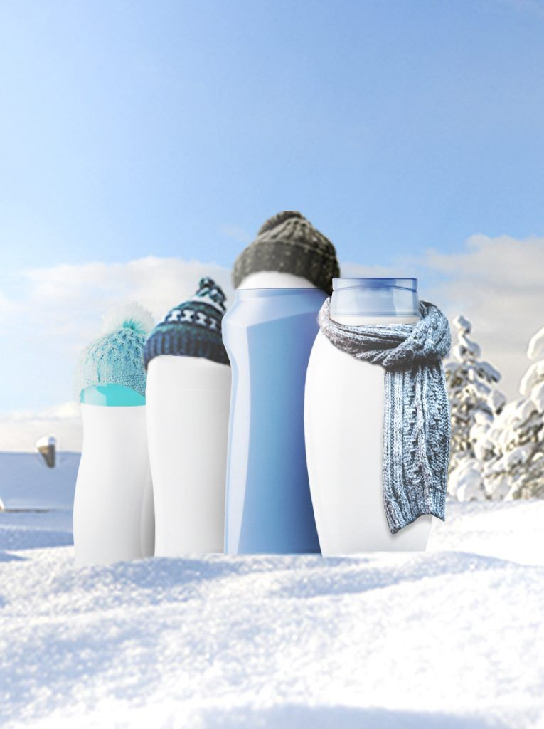 bottles with scarves